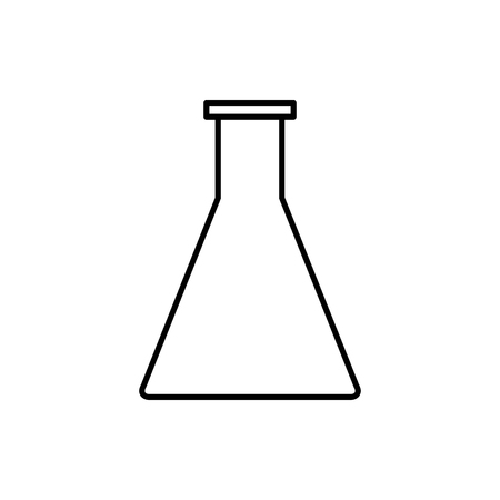 vector outline icon of test tube