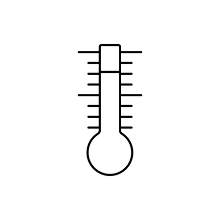 vector outline icon of thermometer