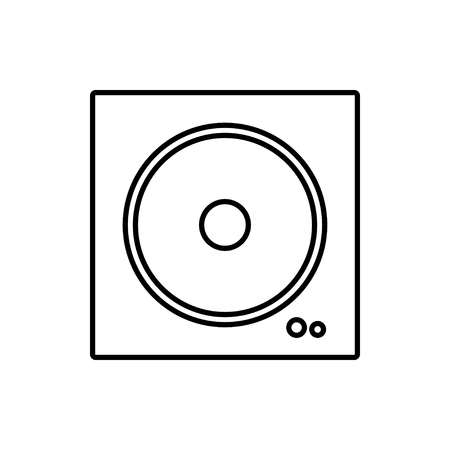 vector outline icon of speaker   イラスト・ベクター素材