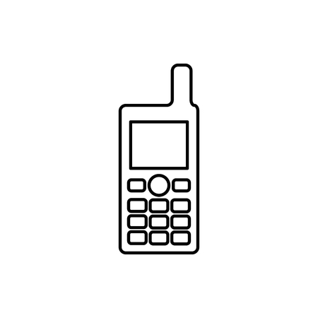 vector outline icon of cell phone