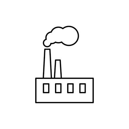 vector outline icon of factory
