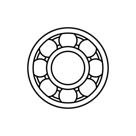 vector outline icon of bearing Stock Illustratie