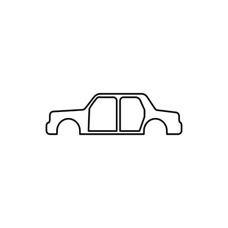 vector outline icon of car body Illustration