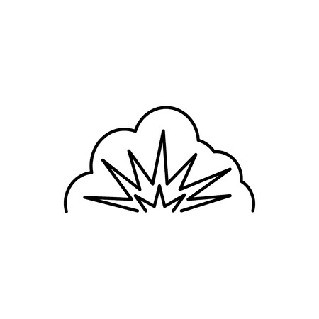 vector outline icon of explosion