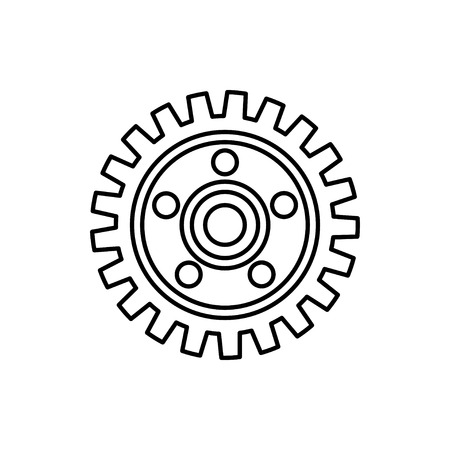 vector outline icon of gear