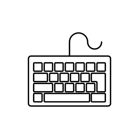 vector outline icon of keyboard