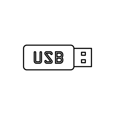 vector outline icon of usb stick Stock Illustratie