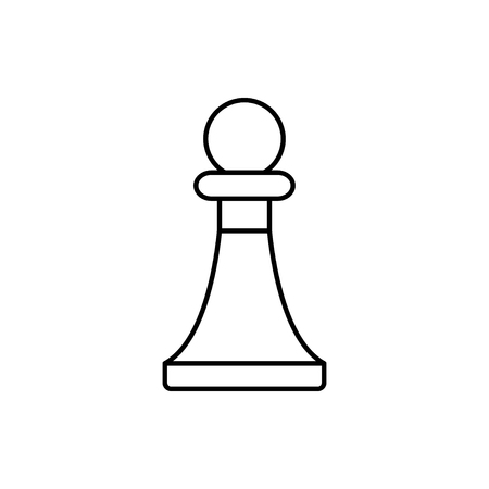 vector outline icon of chess pawn