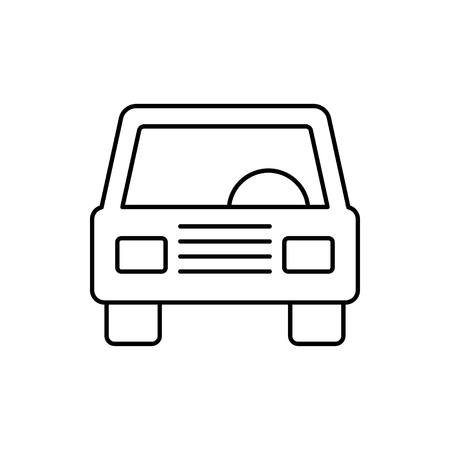 vector outline icon of car front Stock Illustratie