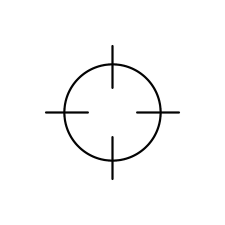 vector outline icon of crosshair Stock Illustratie