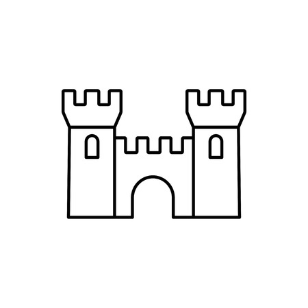 vector outline icon of castle 矢量图像