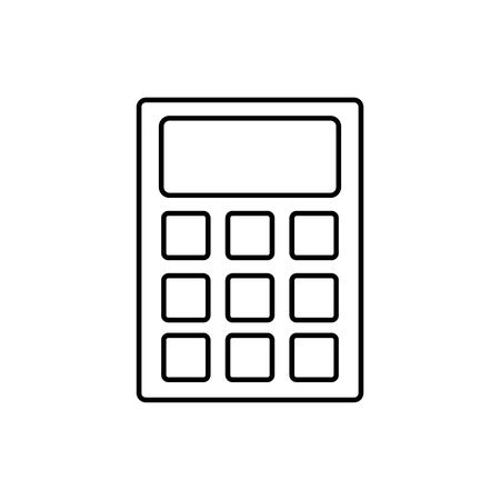 vector outline icon of calculator Stock Illustratie