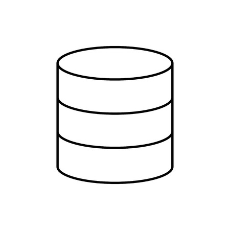 vector outline icon of database Stock Illustratie