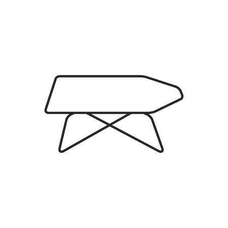 Ironing board illustration. Household vector outline icon