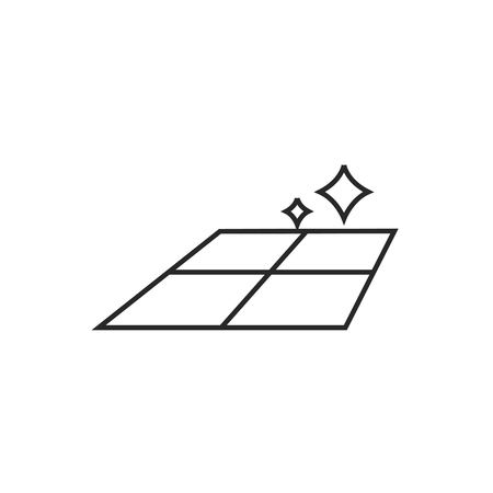 ceramic tile illustration. Tiled floor vector outline icon