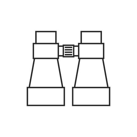 Tourist binocular illustration. Adventures vector outline icon