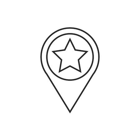 Map pointer illustration. Navigation vector outline icon