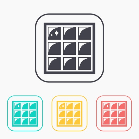 Floor or wall tiles illustration. Clean household vector color icon set