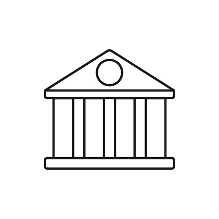 vector outline icon of court building Banco de Imagens - 122779262
