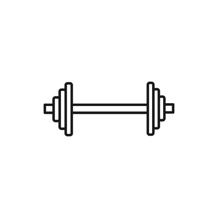 vector outline icon of barbell