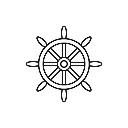 vector outline icon of steering wheel 矢量图像