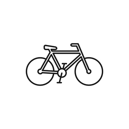 vector outline icon of bicycle