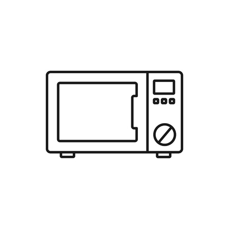 vector outline icon of microwave oven Ilustração