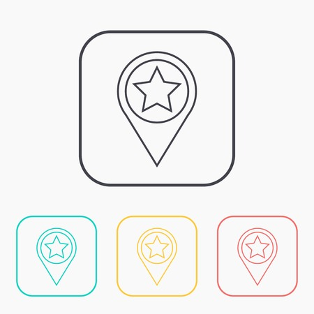 Map pointer illustration. Navigation vector outline icon
