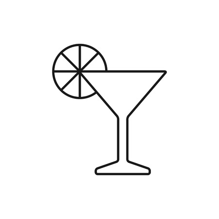 vector outline icon of martini glass