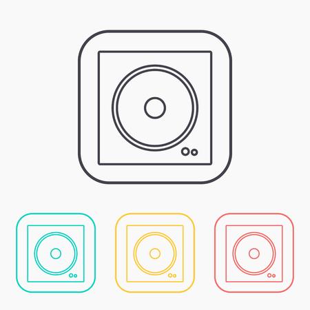 vector outline icon of speaker