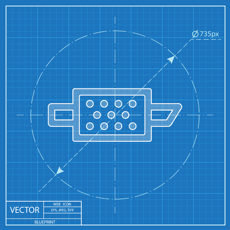 Partikel-Motorfilter-Warnvektor-HMI-Dashboard-Blaupause-Symbol