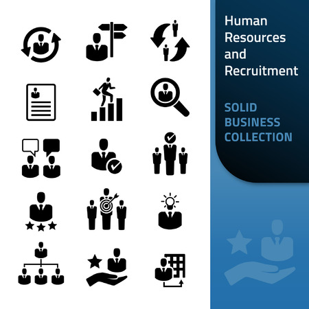 Human Resources and Recruitment - Icon Collection Vektorové ilustrace