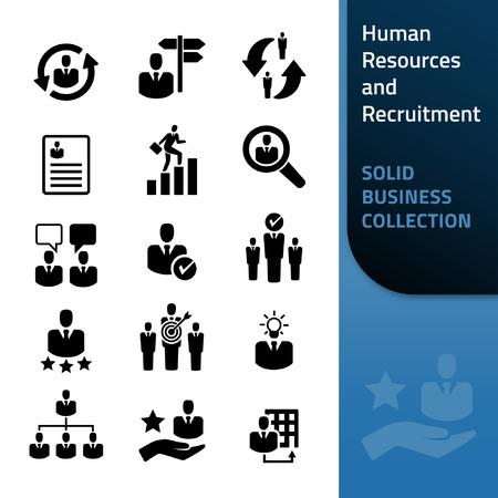 Ressources humaines et recrutement - Icon Collection Vecteurs