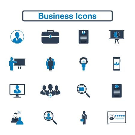 Business Icon set. Flat style vector EPS.
