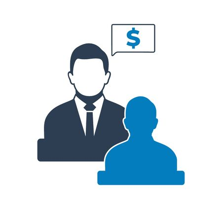Business and financial advisor icon . Flat style vector EPS.