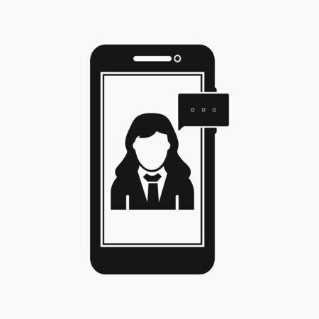 Online business support icon. Flat style vector EPS.  イラスト・ベクター素材