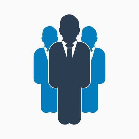 Business Leadership Icon. Flat style vector EPS.