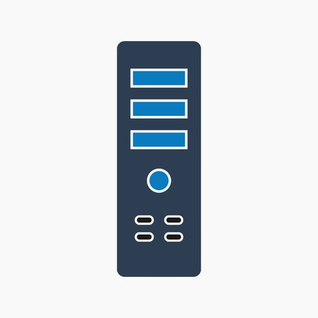 Computer CPU icon. Flat style vector EPS.