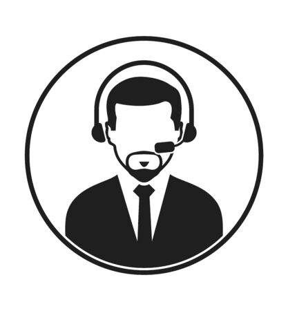 Call centre operator icon. Flat style vector EPS.  イラスト・ベクター素材