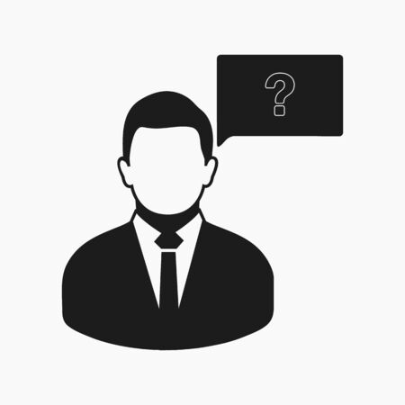 Decision making icon. Flat style vector EPS.