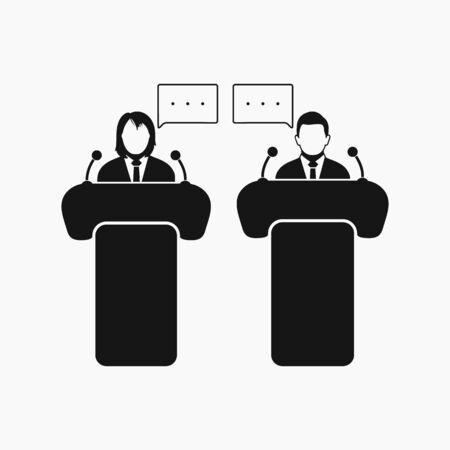 Debate icon. Flat style vector EPS.