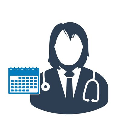 Doctor appointment icon. Flat style vector EPS.