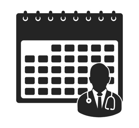 Doctor Appointment Icon . Flat style vector EPS.