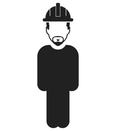 Standing Worker Icon. Flat style vector EPS. Vectores