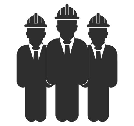 Standing Male Engineer team Icon. Flat style vector EPS.