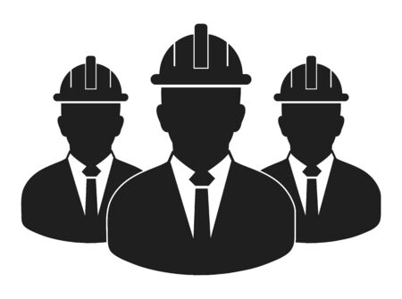Engineer Team Icon. Flat style vector EPS.