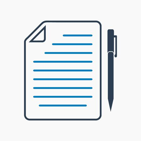 Exam paper icon. Flat style vector EPS.