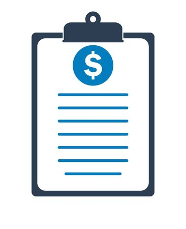 Financial report icon. Flat style vector EPS.