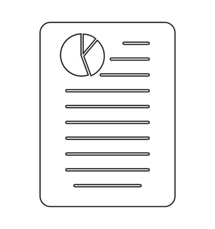 Business or Financial report Icon. Line style vector EPS.