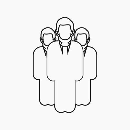 Business Leadership Icon. Line style vector EPS.